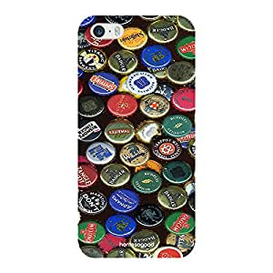 HomeSoGood Expensive Bottle Caps Multicolor Mobile Cover For iPhone 5 / 5S (Back Cover)