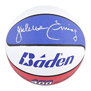 Julius Erving Philadelphia 76ers Autographed Baden Indoor Outdoor ABA Basketball -... by Sports Memorabilia