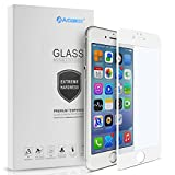 Arbalest iPhone6/6s フィルム ブルーライトカット 3Dタッチ対応 3D曲面 薄型 日本板硝子ガラス 硬度9H 0.26mm PET ソフトフレーム 強化ガラスフィルム 全面 白