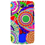 For Samsung Galaxy S3 I9300 :: Samsung I9305 Galaxy S III :: Samsung Galaxy S III LTE Colorful Circle Flower ( Colorful Circle Flower, Circle Flower Mandalas Seamless Pattern, Pattern, Seamless Patten ) Printed Designer Back Case Cover By FashionCops