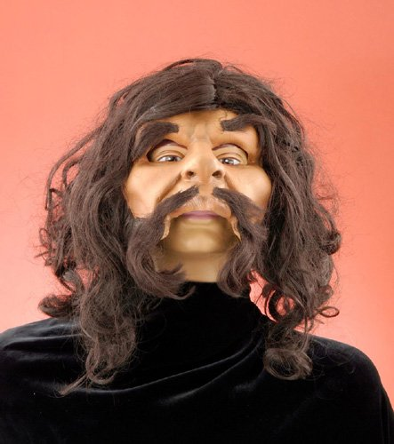 Adult Deluxe Caveman Mask with Wig