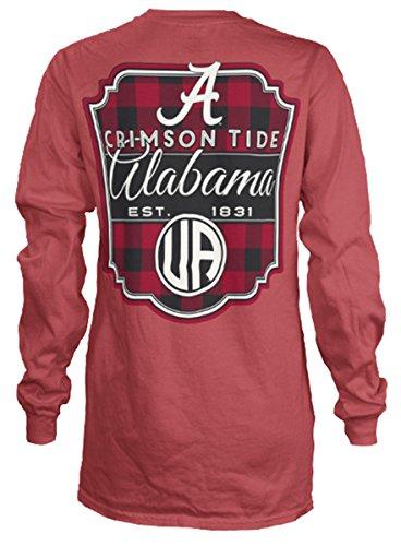 Press Box Alabama Crimson Tide Buffalo Plaid Long Sleeve T-shirt-large (Press Box Red compare prices)