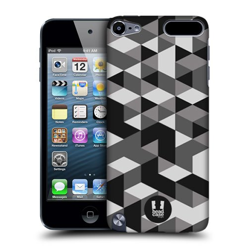 Head Case Designs Grey Geometric Camo Protective Snap-on Hard Back Case Cover for Apple iPod Touch 5G 5th Gen