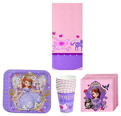 Awardpedia sofia the first princess party pack for 1st birthday party decoration packs