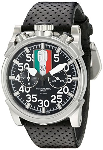 CT-Scuderia-Mens-CS10125-Touring-Analog-Display-Swiss-Quartz-Black-Watch
