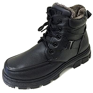 F-07 Men's Winter Boots Ankle Fashion Lace up Fur Full