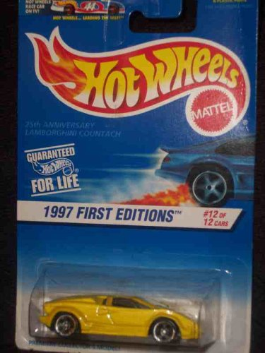 1997 First Editions -#12 #12 25th Anniversary Lamborghini Countach With HW Logo Mint #510