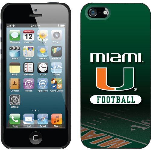 Special Sale Miami - Football Field design on a Black iPhone 5 Thinshield Snap-On Case by Coveroo