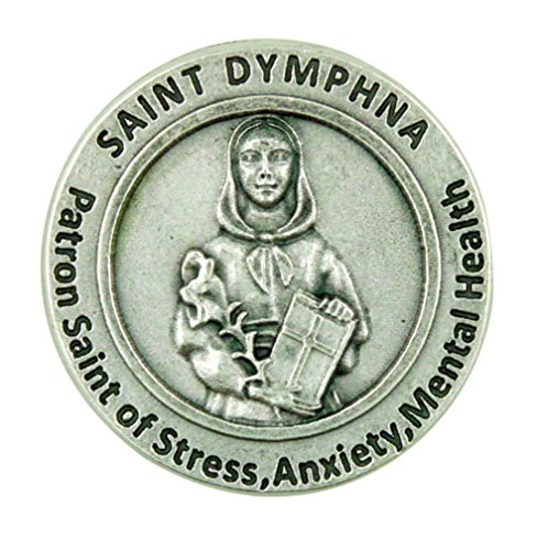 Patron Saint of Mental Illness St Dymphna Pocket Token with Prayer Back