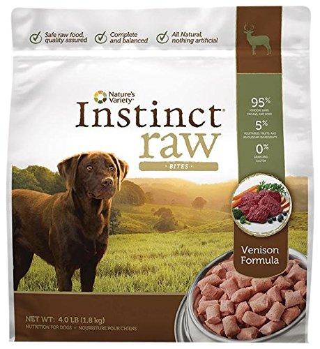 Nature's Variety Instinct Raw Frozen Bites for Dogs - Venison Formula - 4lb
