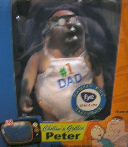 Picture of Mezco Family Guy Chillin' & Grillin' Peter #1 Dad Exclusive Figure (B0015NQMI0) (Mezco Action Figures)