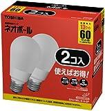 東芝 ネオボール 電球形蛍光ランプ 電球60ワットタイプ 電球色 2個パック EFA13EL-E-U-2P