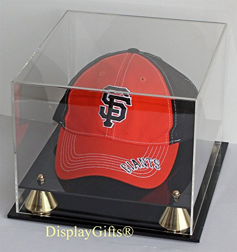 DisplayGifts Acrylic Baseball Cap / Hat Display Case Stand, UV Protection, AC-B013 (Clear Hat Display compare prices)