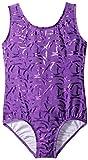 Danskin Big Girls' Girls Sparkle Gymnastics Leotard, Sparkle Purple, Medium