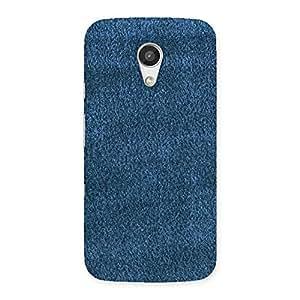 Royal Blue Clothing Pattern Back Case Cover for Moto G 2nd Gen