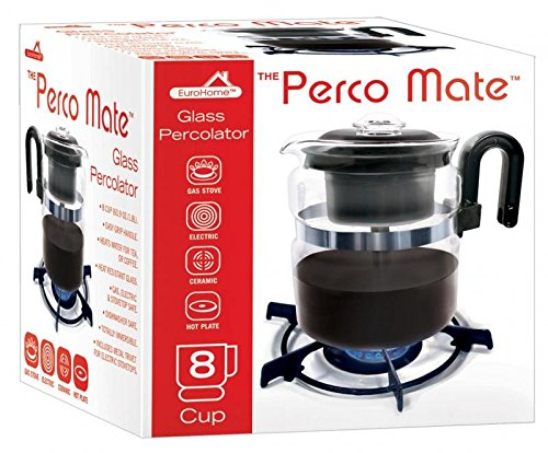 Coffee Maker On Gas : Stovetop 8 Cup Glass Percolator Coffee Maker 8 Cup Gas Electric Ceramic St...NEW eBay