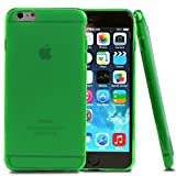 iPhone 6 Plus Case, [Neon Green/Frost] Slim & Flexible Crystal Silicone TPU Skin Cover for Apple iPhone 6 Plus (2014)