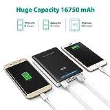 RAVPower 16750mAh 4.5A Dual USB Output Portable Charger External Battery Power Bank (iSmart Technology) - Black