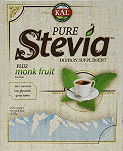 Kal Pure Stevia Plus Monk Fruit (Luo Han) -- 1 g - 100 Packets
