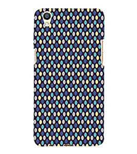 Blue Yellow Dots Pattern 3D Hard Polycarbonate Designer Back Case Cover for Oppo F1 Plus