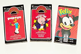 Classic Cartoons Collection 11 3pk Porky Pig Felix the Cat Popeye the Sailer and Friends