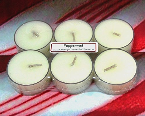 Peppermint PURE SOY Tea Light Candles (Candle Warmers Non Electric compare prices)