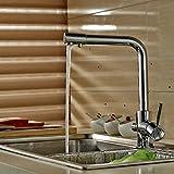Auralum 浄水器 蛇口 シングルレバー 取り付けホース付き 水栓装置
