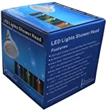 LED Showerhead with 12 Temperature-Sensitive, Color-Changing LEDs