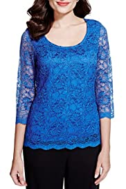 Corded Floral Lace Top [T62-4582I-S]