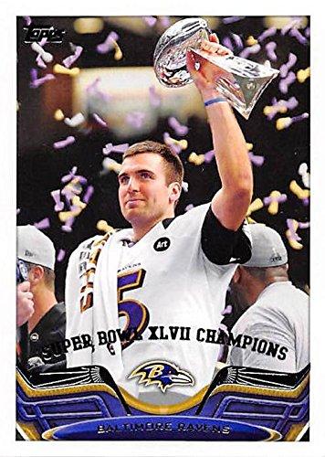 Joe Flacco Football Card (Baltimore Ravens) 2013 Topps Super Bowl XLVII Champions #23 (Super Bowl Xlvii Football compare prices)