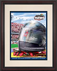 NASCAR Framed 8.5 x 11 Daytona 500 Program Print Race Year: 48th Annual - 2006 by Mounted Memories