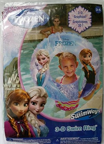 Disney Frozen Elsa & Anna 3-D Swim Ring - 1
