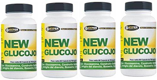 4 box Glucosamina Coindroitina msm Artiglio del diavolo Curcuma 60 cpr Dolori articolari (Glucosamina Solfato Msm)