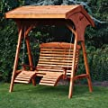 Roofed Comfort Hollywoodschaukel, Aus Holz