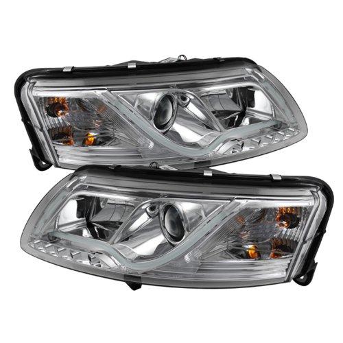 Spyder Auto (Pro-Yd-Ada605-Ltdrl-C) Audi A6 Chrome Halogen Projector Headlight With Led Daytime Running Light Tube