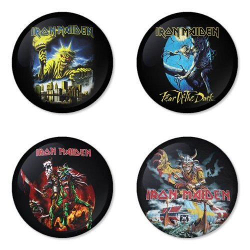 "IRON MAIDEN Tondo Round Badges Button 1.75"" apribottiglie portachiavi Bottle opener keychain"