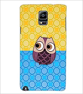 PrintDhaba Owl D-2686 Back Case Cover for SAMSUNG GALAXY NOTE 3 (Multi-Coloured)