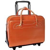 McKleinUSA WILLOWBROOK 94980 Orange Detachable-Wheeled Ladies' Briefcase
