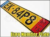 R-2-5-B ユーロ ナンバープレート 橙 BMW E87 E86 E30 E36 E46 E90 VOLKSWAGEN ゴルフ 1K 1J 1H アウディAUDI A6 A8 クアトロ ベンツ W220 W221 SLK CLK