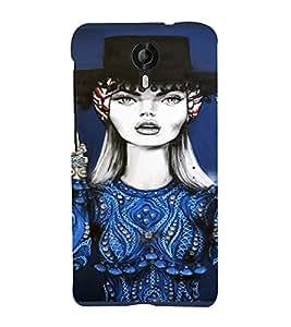 PrintVisa Beautiful Girl Art 3D Hard Polycarbonate Designer Back Case Cover for Micromax CanvasNitro4G E371