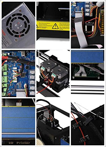 Schwarz-3D-Drucker-Dual-Extruder-Desktop-Rapid-Prototyping-3D-Drucker-3D-Printer-Inklusive-1x-175-mm-1-kg-22lb-ABS-Filament