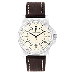 Laurels Original Off-White Dial Analogue Watch for Men (Lo-Vin-101)