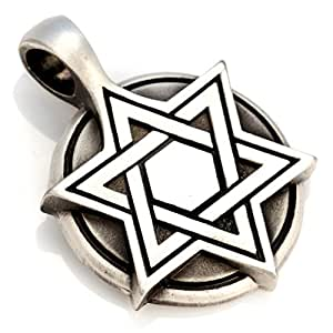 Amazon.com: Bico Star Of David Medallion Pendant (E193) - helping the
