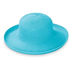 Wallaroo Women\'s Victoria Sun Hat - Lightweight and Packable Straw Hat, Turquoise