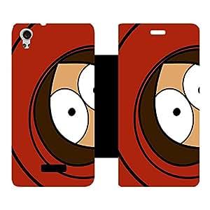 Phone Candy Designer Flip Cover with hi-res printed Vinyl sticker wrap-around for Lava Iris X9