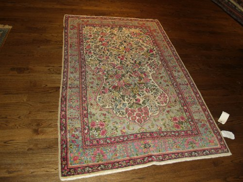 Handmade Antique Iranian Kerman Rug 4'x7'