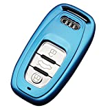 アウディ Audi A4 A6 A5 A7 A8 Q5 リモコン キー ケース (青)