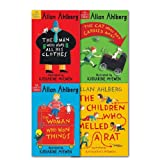 Allan Ahlberg The Gaskitts Stories Collection 4 Books Set, (The Woman who won things, the cat who got carried away, the children who smelled a rat and the man who wore all his clothes)