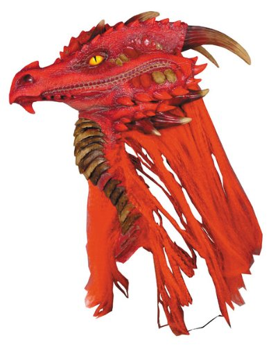 Fire Brimstone Dragon Deluxe Adult Halloween Mask