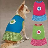 Gingham Sweeties Dog Dress Color: Pink, Size: XX-Small